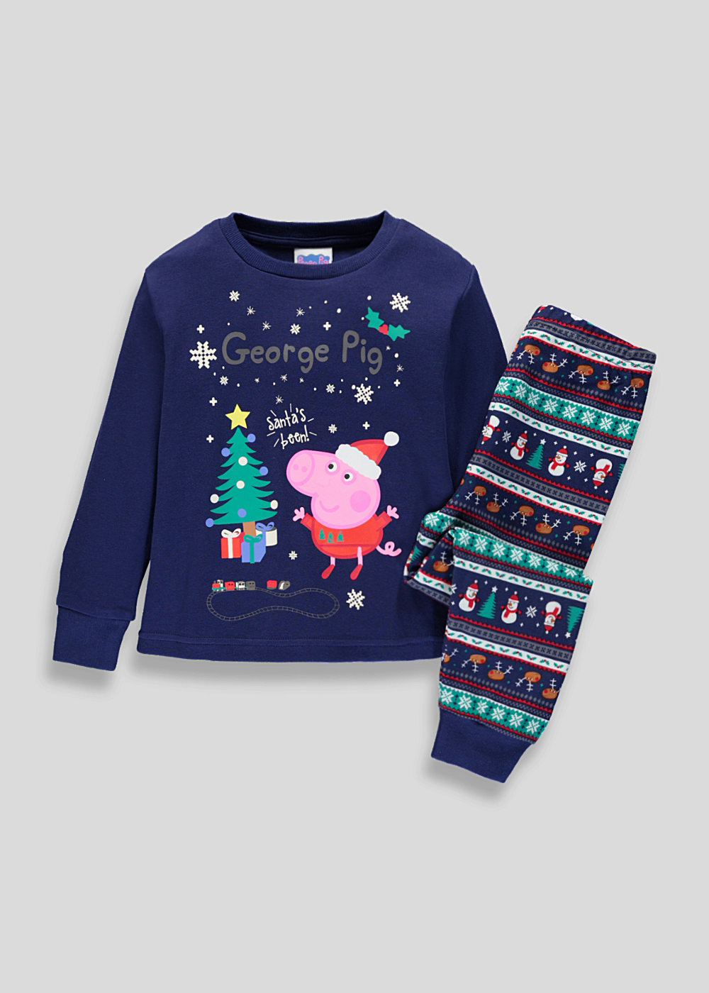 db4697f1 This review is from Kids Family Peppa Pig George Christmas Pyjama Set  9mths-5yrs.