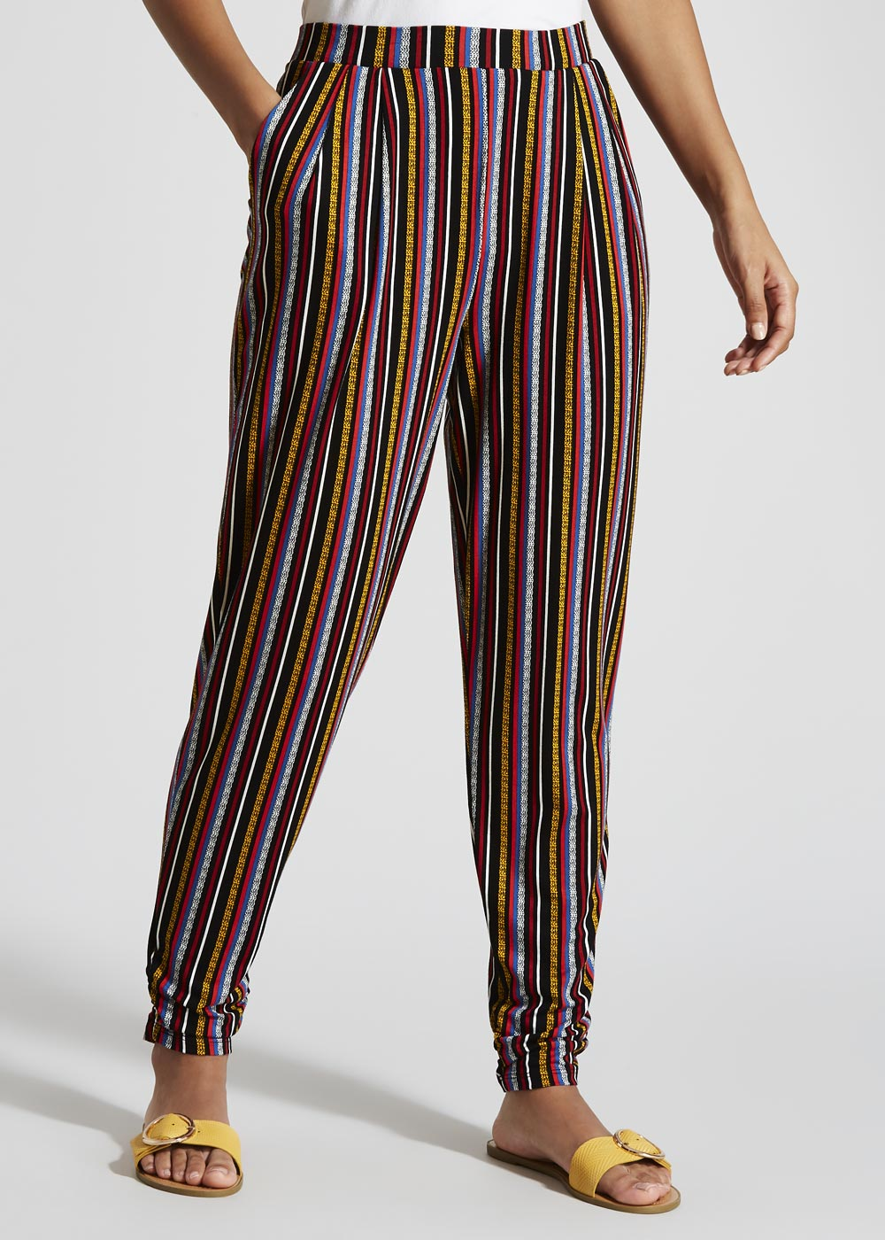 212629d1f421 This review is from Stripe Harem Trousers.